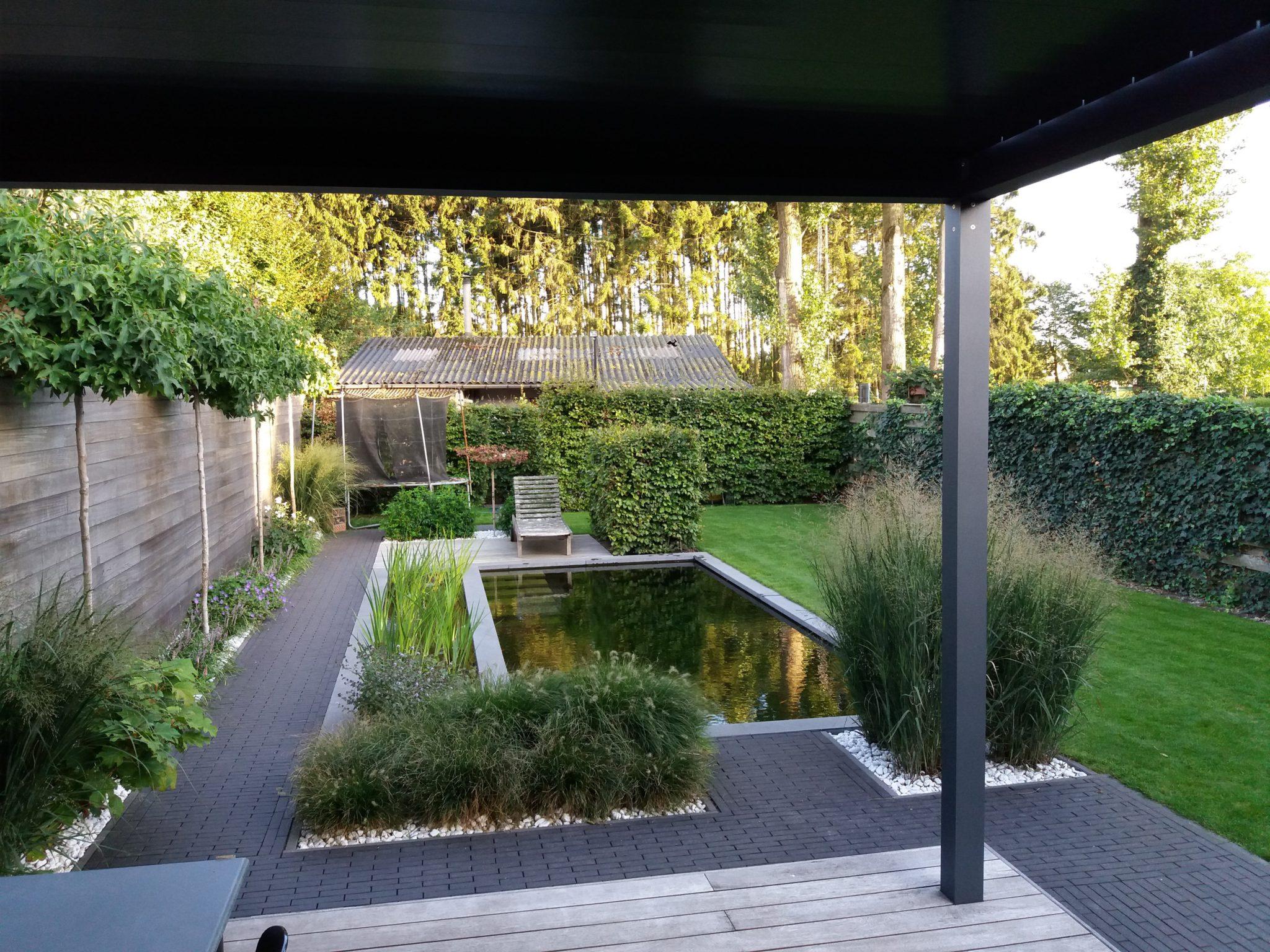 project 7 ook in de kleine tuin past een zwemvijver 2